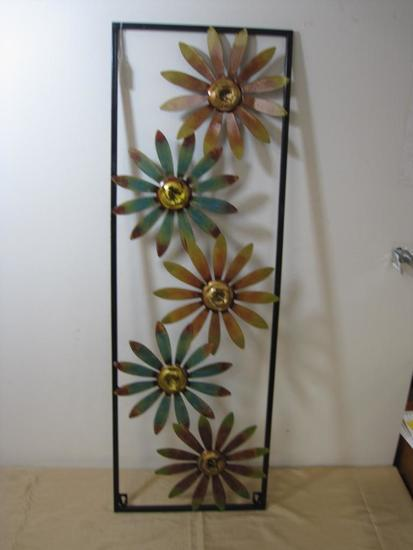 Metal Floral Wall Hanging 35 x 12