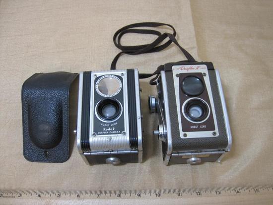 Two Vintage Box Cameras:Kodak Duaflex Camera and Kodak Duaflex IV Camera