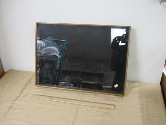 Wood and Glass Display Case 20 x 14