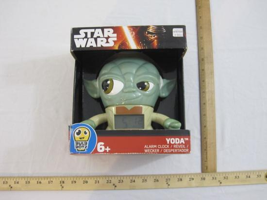 Star Wars Yoda Alarm Clock, in original box, 1 lb 2 oz