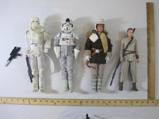Four Star Wars Action Figures, LFL Hasbro, 2 lbs 12 oz