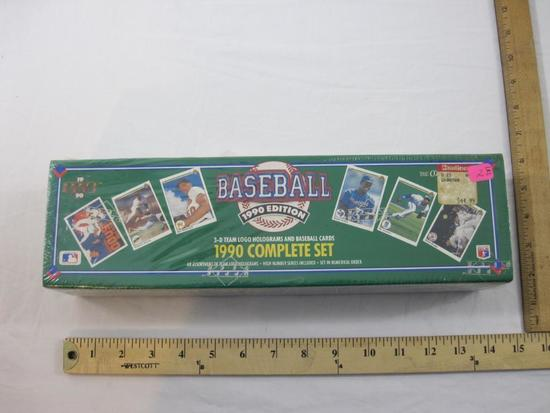 SEALED Upper Deck Baseball 1990 Complete Set with 3-D Team Logo Holograms and Baseball Cards, 4 lbs