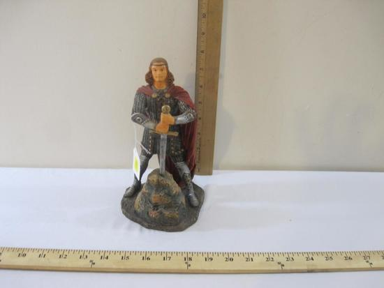 King Arthur Sword in Stone Resin Figure Display, 2 lbs