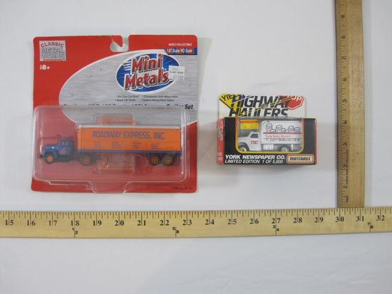 Classic Metal Works Roadway Express Inc Mini Metals, and Matchbox York Newspaper Limited Edition