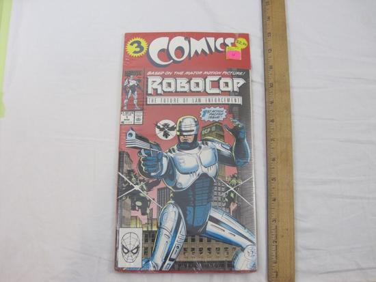 SEALED Pack of 3 Robocop Comic Books Nos. 1-3, Marvel Comics, 6 oz