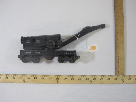 Vintage Metal/Plastic Postwar O/O27 Scale Train Car: Lionel 6460 Bucyrus Erie Class 250 Railroad