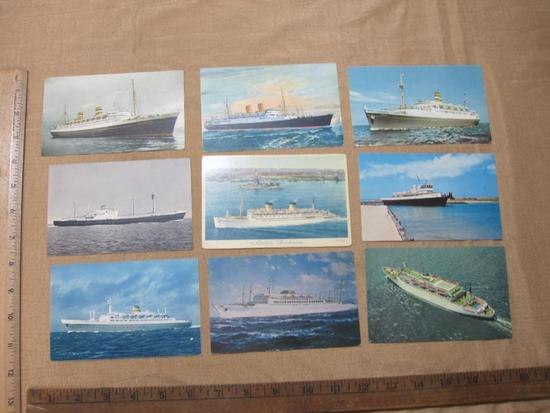 Ship Post Cards including the S.S Argentina and S.S Atlantic