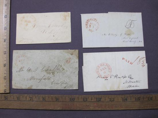 1830s-1840s correspondence from Massachusetts with 3 cent postage
