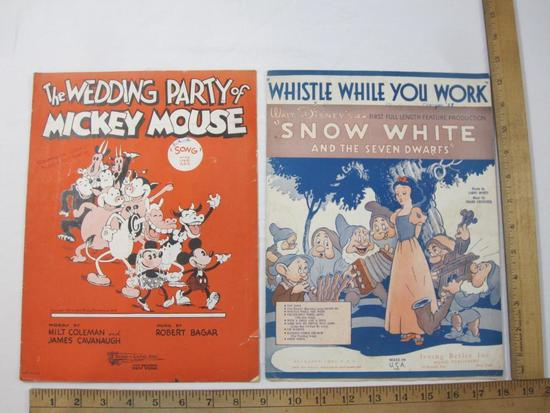 The Wedding Party of Mickey Mouse Songbook 1931 Walt Disney