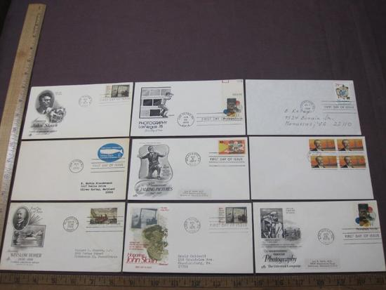 Lot of First Day covers, including 1962 Winslow Homer, 1971 John Sloan and 1977 50th anniversary of