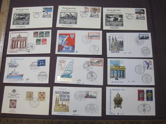 Germany First Day Covers mainly from the 1960's