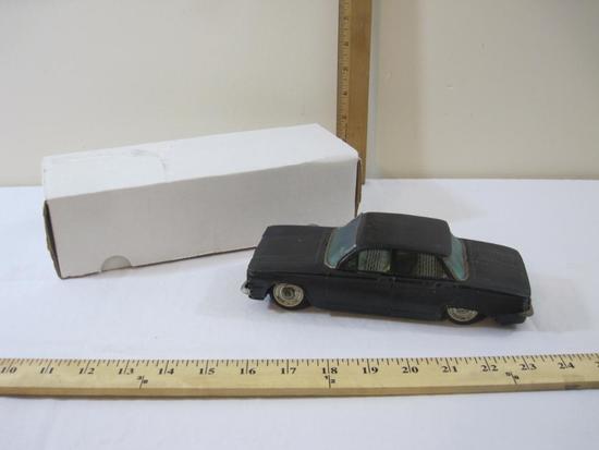 Bandai Black Metal Chevrolet Corvair Friction Car, Japan, AS IS, 10 oz