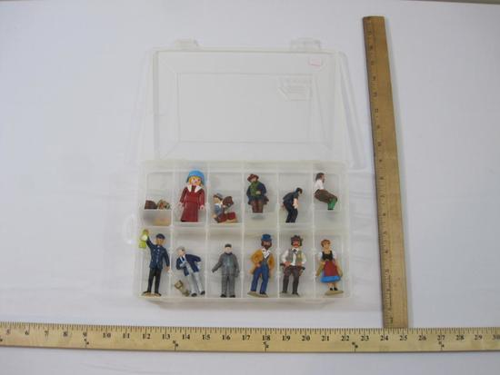 LGB Plastic G Scale Train Figures and with metal MTH Suitcase and more, with divided case, 1 lb