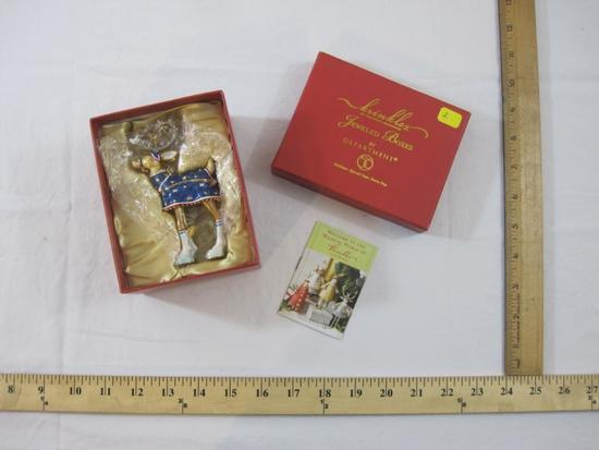 Krinkles Comet Reindeer Jeweled Boxes By Department 56, in original box, 10 oz