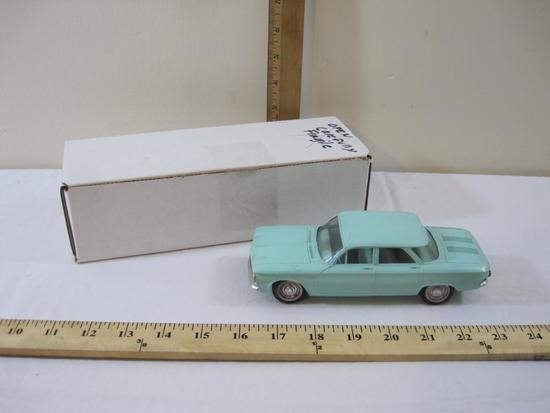 1961 4 Door Aqua Chevrolet Corvair Promo Model Car, 8 oz