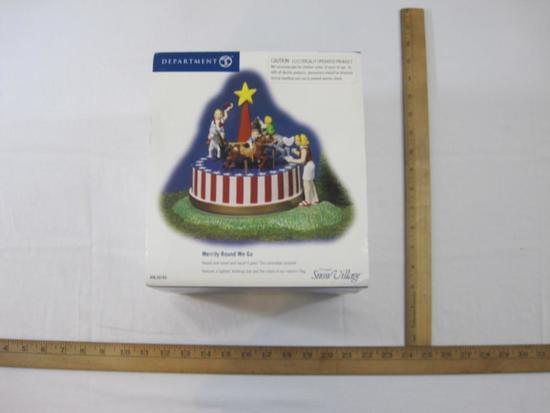 Merry Round We Go Department 56 Christmas Display, in original box, 1 lb 14 oz