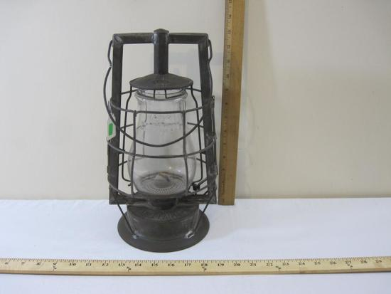 Dietz Mill Kerosene Lantern with Rayo No. 0 Hot Blast Clear Globe, see pictures for condition, 2 lbs