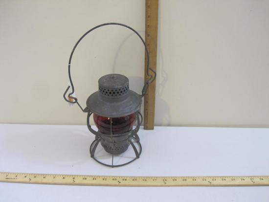 Vintage PRR Pennsylvania Railroad Dressel Railroad Lantern with Red Globe, 2 lbs 7 oz