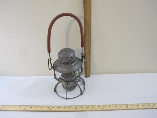 Armspear 1925 Railroad Lantern, lantern marked LIRR (Long Island Railroad) and clear glass globe