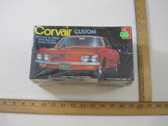 Corvair Custom Modified '69 Monza AMT Hobby Kit with multiple engine options, sealed, 8 oz