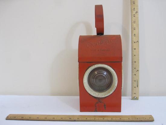 Orange Chalwyn Railroad Traffic Lantern, made in England, 3 lbs