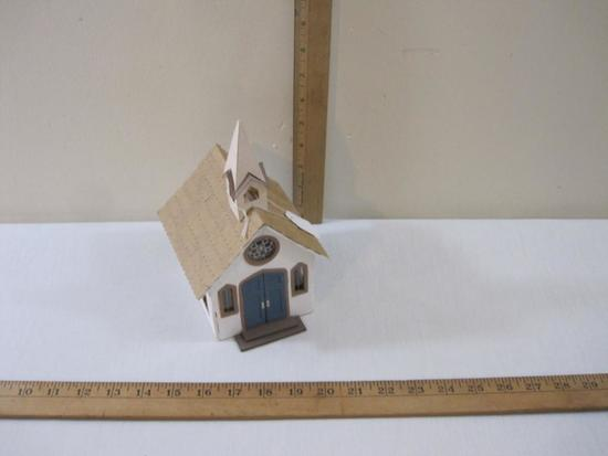 Church Building for Train Display, thin wood and cardboard construction, 5 oz