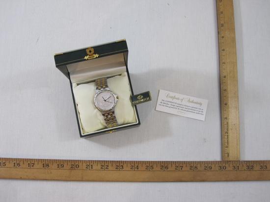 Silver Half Dollar Coin Watch with COA in original Coin Watch box, 10 oz