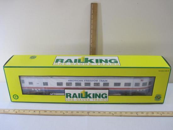 American Freedom 70' Streamlined Passenger Observation Car No 205, Rail King One-Gauge/G-Gauge by