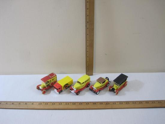Lot of 5 Vintage Shop Right Advertising Cars from ERTL and Hot Wheels including 1918 Ford, 1912