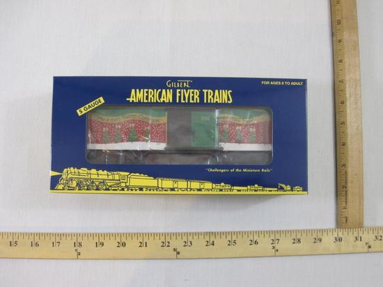 American Flyer Trains 2006m Christmas Boxcar 6-48363, S Gauge, The AC Gilbert Co, new in box, 12 oz