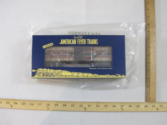 American Flyer Trains 2011 Christmas Holiday Boxcar 6-48394, S Gauge, The AC Gilbert Co, new in box,