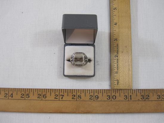 Men's Crossed Sword Sterling Silver Ring, Size 12, 18.9 g