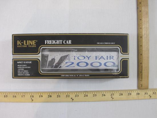 K-Line TF (Toy Fair) 2000 Vat Car K675-7401, O/O-27 Gauge, K-Line Electric Trains, new in box, 1 lb