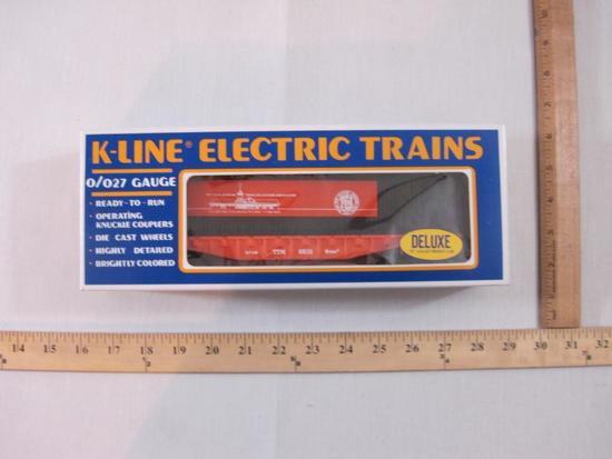 K-Line TCA (Train Collector's Association) Museum Flat Car W/ Load 1988, O/O27 Gauge, K-Line