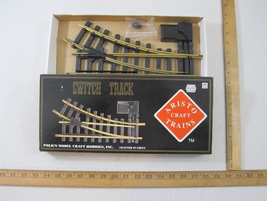 Aristo-Craft Trains Switch Track, #1 Gauge, new in box, Polk Model Craft Hobbies Inc, 1 lb 1 oz