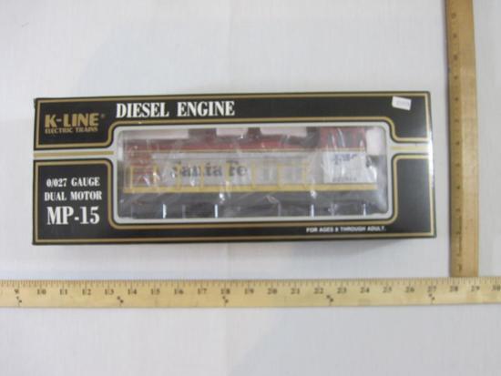 Santa Fe MP-15 Dual Motor Diesel Engine, O/O27 Gauge, K-221304, K-Line Electric Trains, new in box,