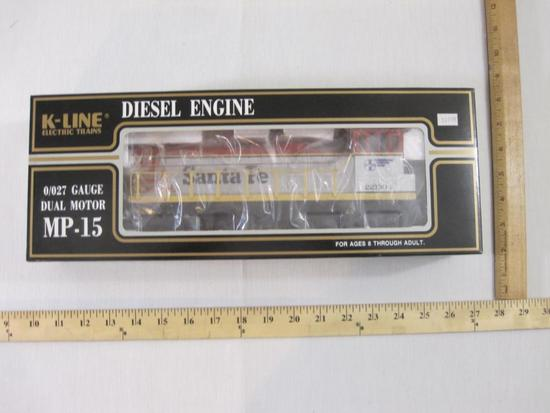Santa Fe MP-15 Dual Motor Diesel Engine, O/O27 Gauge, K-221304, K-Line Electric Trains, new in box,