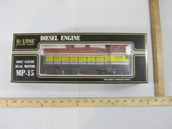 Circus Transport Railway MP-15 Dual Motor Diesel Engine, O/O27 Gauge, K-2249, K-Line Electric