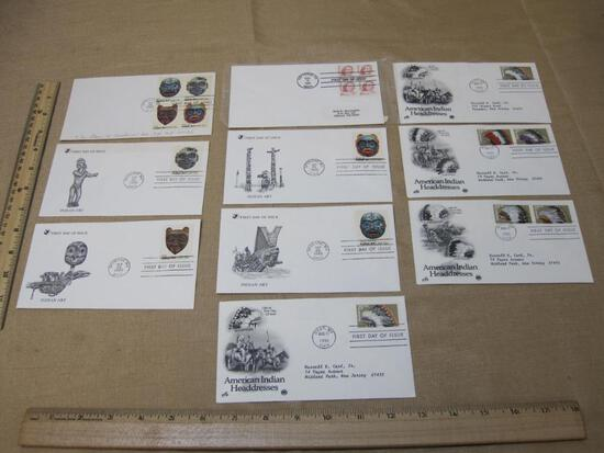 First Day of Issue lot includes 5 1980 Pacific Northwest Indian Masks covers (#s1834-1837), one 1987