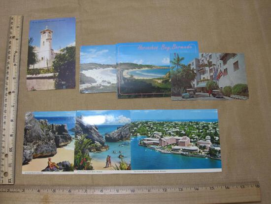 Bermudian Postcards of Horseshoe Bay, St. Theresa's Church, Castle Harbour Hotel, The Princess Hotel