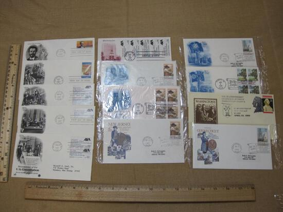 First Day of Issue covers lot (1985 to 1989), including: 1985 Sculptor Frederick Auguste Bartholdi;