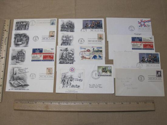 US Postal Service First Day Covers Commemorating The Spirit of 76, 200th Anniversary First