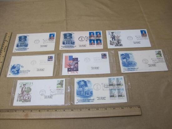 Lot of 1987 and 1988 First Day Covers, including 3 1987 Pennsylvania Statehood Bicentennial (#2337)