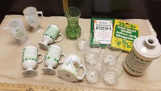 Lot of Irish Themed Mugs and more