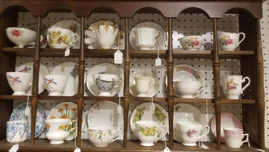 Assorted Cup and Saucer Sets, Rack is NOT included