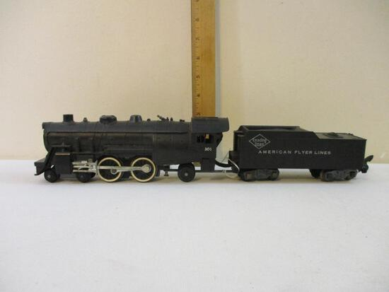 American Flyer S Gauge Locomotive 301 with Reading Lines American Flyer Lines Tender, 2 lbs 4 oz
