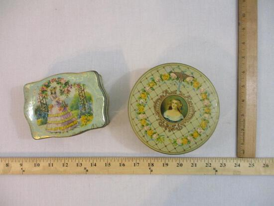 Two Vintage Tins including Maison Principale and more, 10 oz