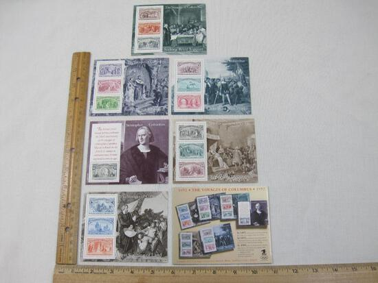 The Voyages of Columbus Complete 16-Stamp Set in 6 Souvenir Sheets, 1992