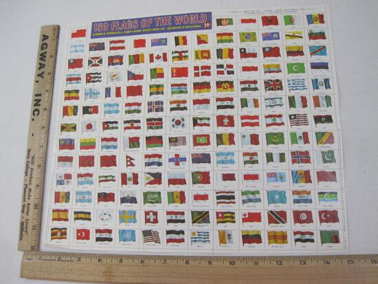 U.S. Postage Stamps 150 Flags of The World Stamp Sheet