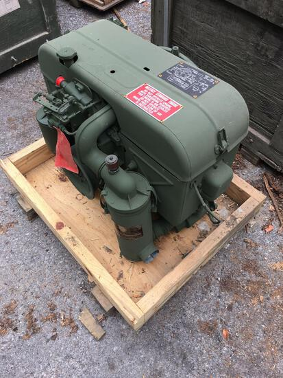 Military Standard Engine 2 Cylinder Air Cooled preserved with shipping crate